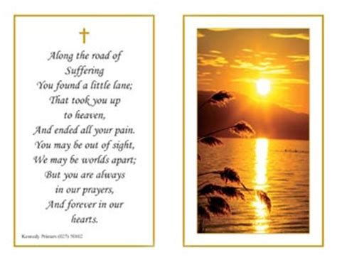 how to make a funeral memorial card memorial card quotes for funerals quotesgram