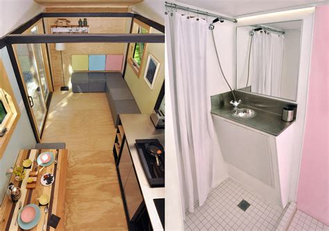 Kitchen Floor Plans With Walk In Pantry toybox home a stylish tiny house on wheels for 48 000