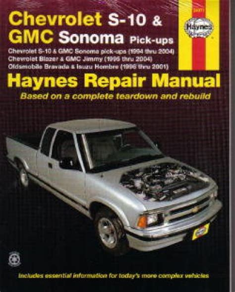 service manual haynes chevrolet gmc pickup trucks chevrolet silverado gmc sierra denali shop chevrolet gmc s 10 sonoma haynes pick up truck repair manual 1994 2004