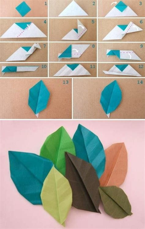 paper leaves craft paper leaves diy crafts