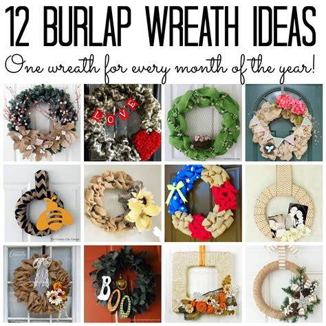 burlap craft projects burlap wreaths 12 ideas for every season the country