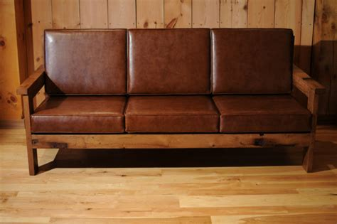 wood and leather sofas items similar to wood leather sofa reclaimed oak
