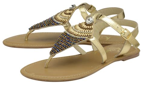 leather beaded sandals ravel leather flat toe post sandals gold beaded