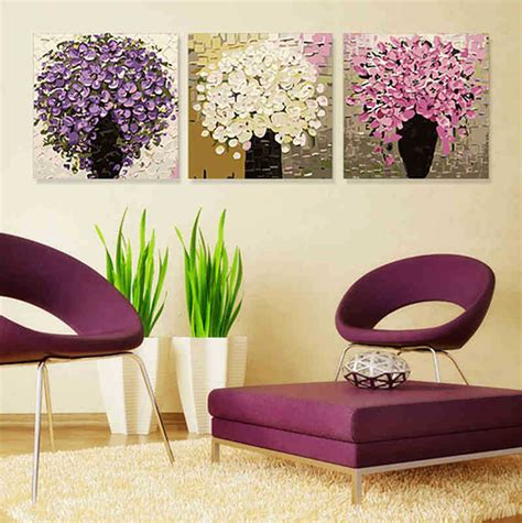 acrylic house paint on canvas 3pcs 2015 modern diy digital painting on canvas