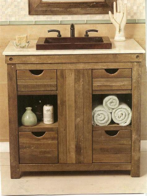 rustic wood bathroom vanity best 25 rustic bathroom vanities ideas on