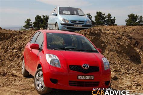 2006 hyundai getz vs toyota yaris road test photos 1 of 18