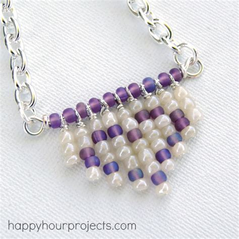 seed bead crafts fringe seed bead necklace happy hour projects