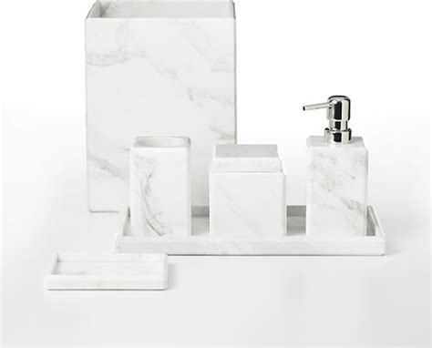 bathroom accessories white waterworks studio white marble bath accessories modern