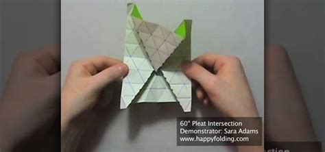 pleat fold origami how to origami a 60 degree tessellation pleat intersection