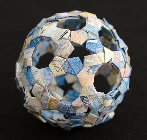canadian money origami modular origami made from foreign currency matters of grey