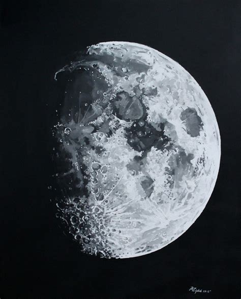 acrylic painting moon moon in acrylic and ink astronomy sketch of the day