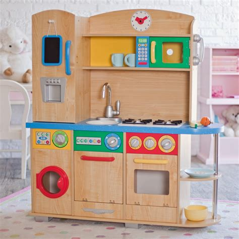 kid craft kitchen kidkraft cook together play kitchen 53186 play