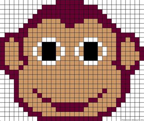 perler monkey pattern monkey perler bead pattern pyssel