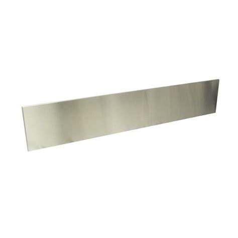 stainless steel backsplash lowes shop dacor 9 in x 36 in stainless steel kitchen backsplash