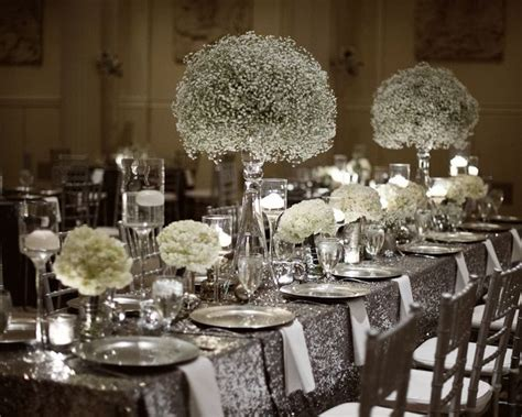 silver centerpieces best 25 silver wedding decorations ideas on