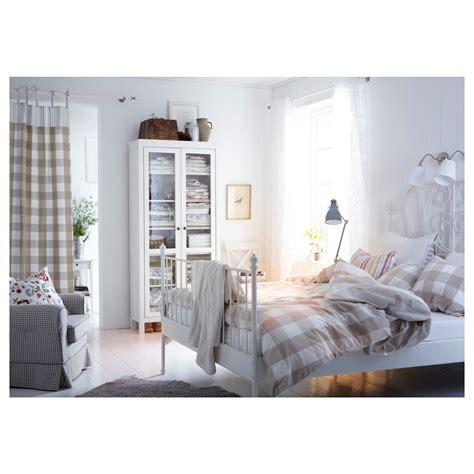 leirvik bed frame white lur 246 y standard ikea