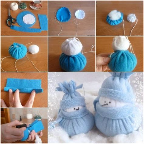 decorations to make at home for how to make felt snowman home decor step