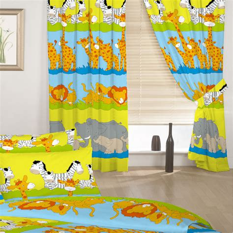 animal curtains for nursery children s duvet quilt covers or curtains in a choice