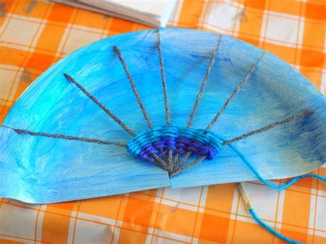 paper plate weaving craft rainbow paper plate weaving project pink stripey socks