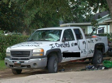 spray paint truck takes spray paint to husband s truck