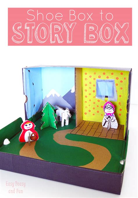 shoe box craft projects story box shoe box craft easy peasy box and craft
