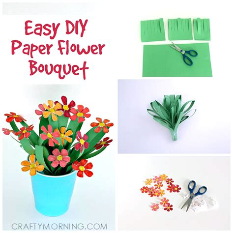 paper craft flowers bouquet 3d paper flower bouquet craft for crafty morning