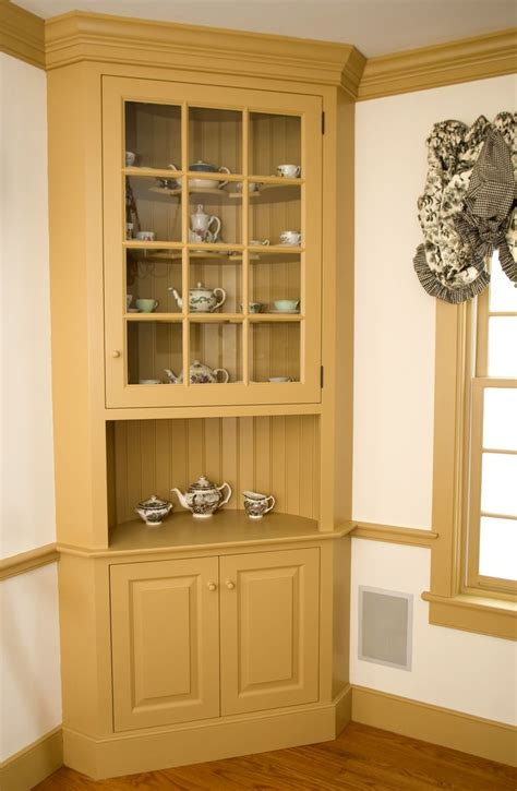 corner kitchen hutch furniture custom made painted colonial style corner cabinet by maple tree cabinetmakers llc custommade