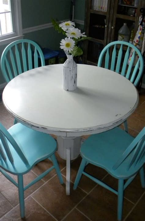 diy chalk paint dining table diy white chalk paint on wood table turquoise