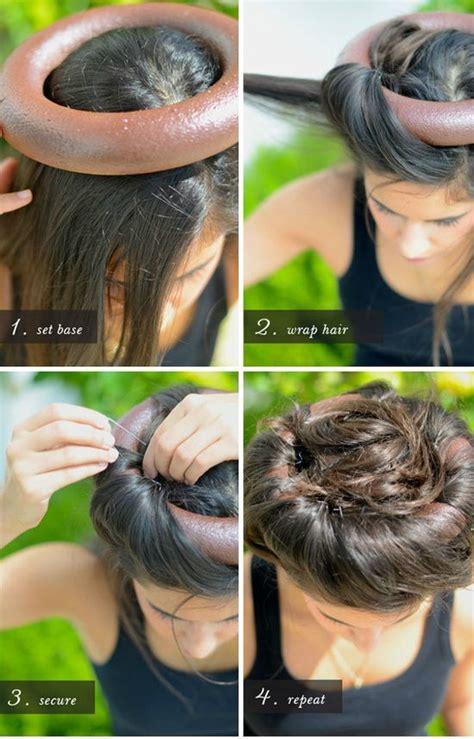 spray paint in hair 1 spray paint foam ring in a color that matches your hair