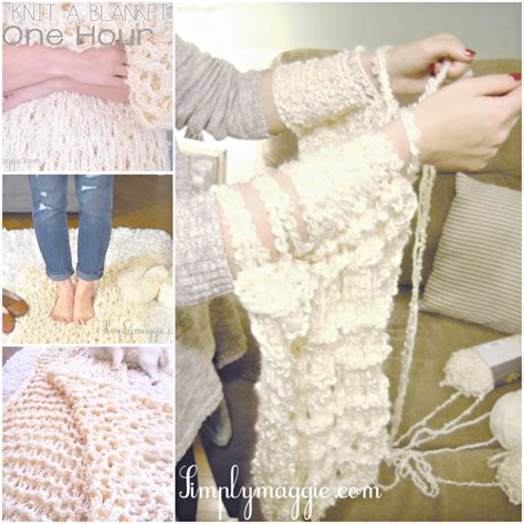 diy arm knitting how to diy arm knit blanket in 45 minutes beesdiy