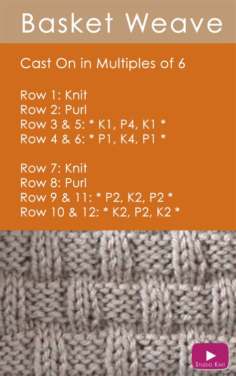 how to take out a row of knitting how to knit the basket weave stitch pattern studio knit
