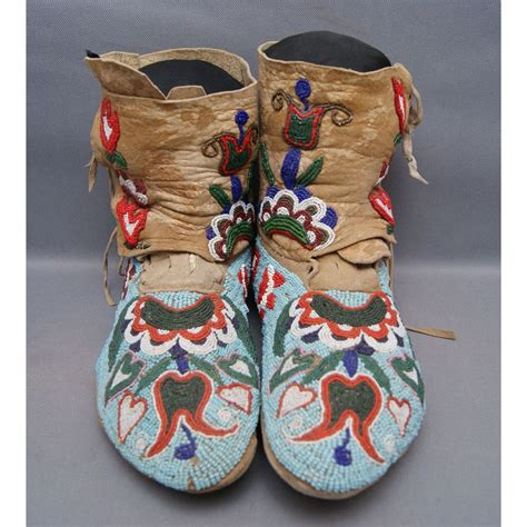 beaded moccasins and nez perce beaded moccasins free shipping this auction