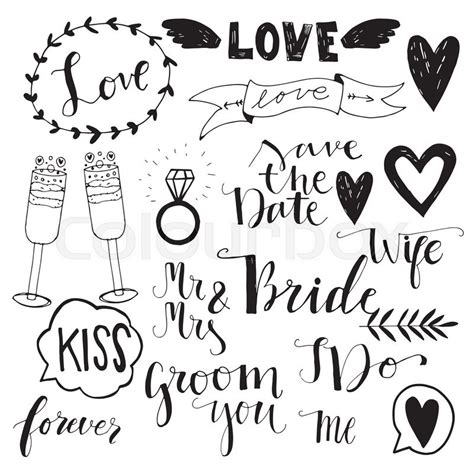 Home Textile Design Jobs hand drawn wedding doodle icons save the date invitation