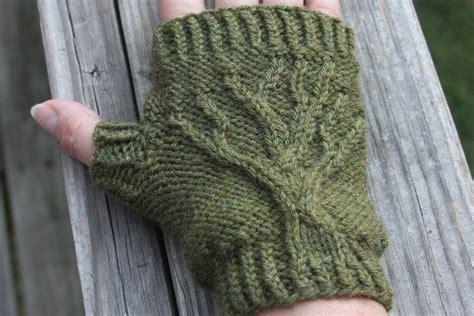 tree of knitting pattern tree of fingerless gloves knit pattern pdf