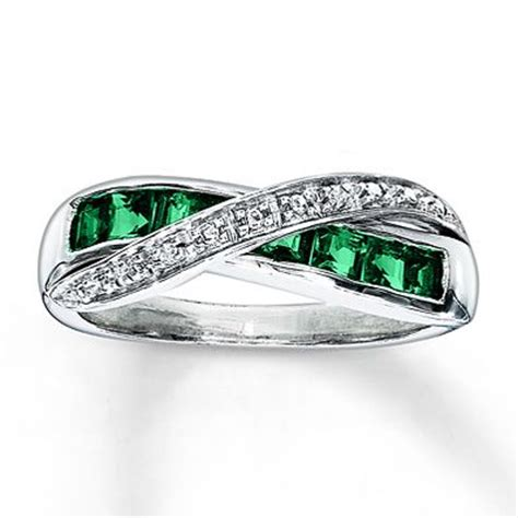 jewelry classes ta emerald ring in 18k white gold tanary jewelry