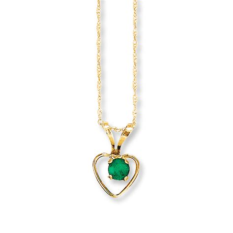 emerald necklace emerald necklace 14k yellow gold