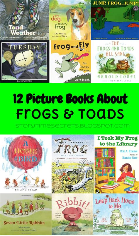frog picture books story time secrets 12 picture books about frogs toads