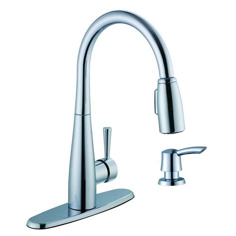 glacier bay pull kitchen faucet glacier bay 900 series single handle pull sprayer kitchen faucet with soap dispenser in
