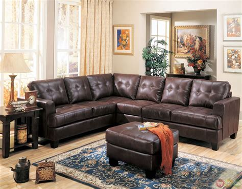 leather l shaped sectional sofa samuel brown bonded leather sectional sofa contemporary l