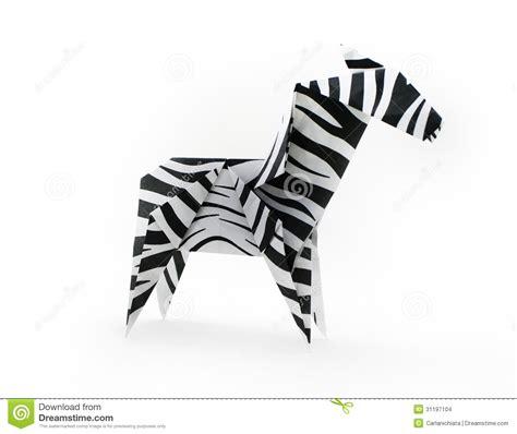 origami zebra zebra stock images image 31197104