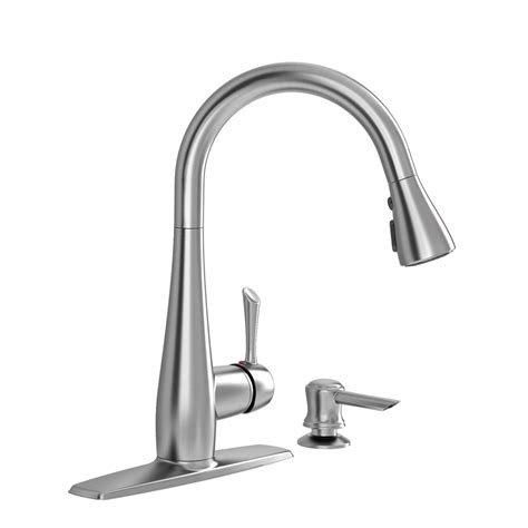 Stainless Kitchen Faucets shop american standard olvera stainless steel 1 handle
