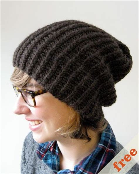 knitting patterns for slouchy hats free easy slouchy hat free pattern knitting