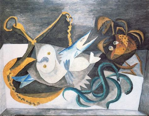 picasso paintings fish still with fish by pablo picasso 1881 1973 spain