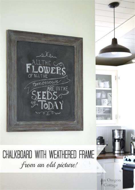 diy chalkboard picture frame diy chalkboard weathered frame from an picture