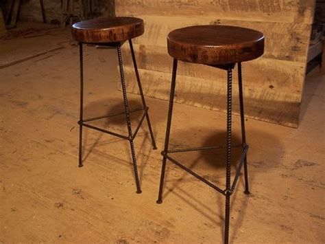 Custom Wood Bar Stools by Buy Made Reclaimed Wood Bar Stools With Industrial