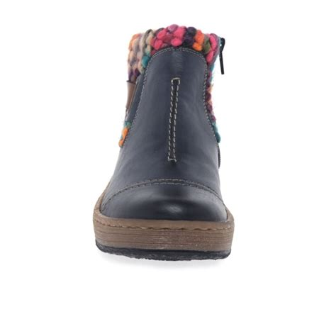 knit boots womens rieker rambler s knit panel ankle boots charles