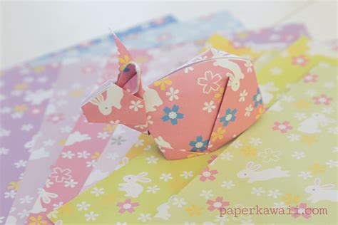 origami rabbit tutorial origami bunny rabbit tutorial paper kawaii