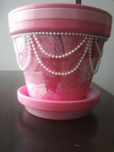 decoupage clay pots ideas pretty in pink decoupage flower pot terra cotta flower