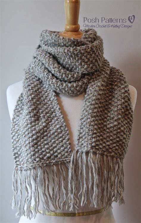 knit scarf patterns seed stitch scarf allfreeknitting