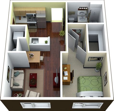 modern one bedroom apartment design planning studio apartment floor plans ideas 4 homes